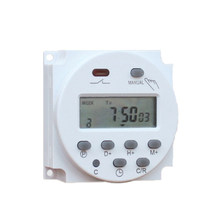 CN101A 12V 24V 110V 240V Digital LCD Power Timer Programmable Waktu Saklar Alarm Lampu Jam Timer switch(China)