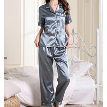 Short Sleeve Pajamas Set Women Summer Short sleeved Striped Design Pajamas Loose Style Home Clothes Women Pyjamas
