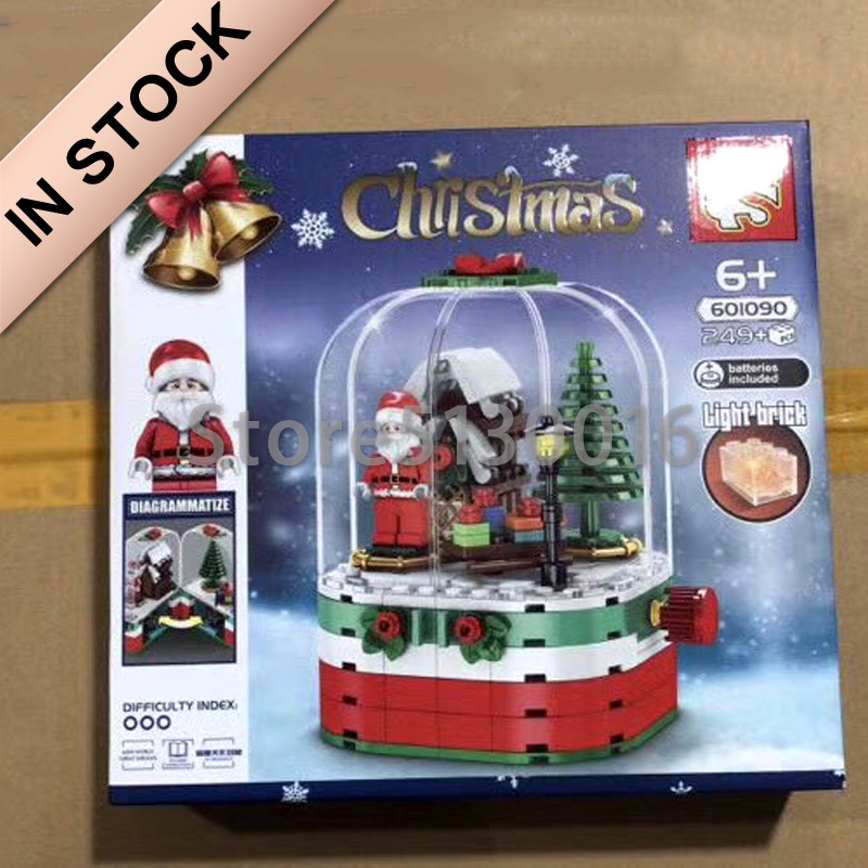 In Stock 601090 Christmas Santa Claus Tree 249Pcs Building Blocks Bricks Compatible Model Toys Sembo