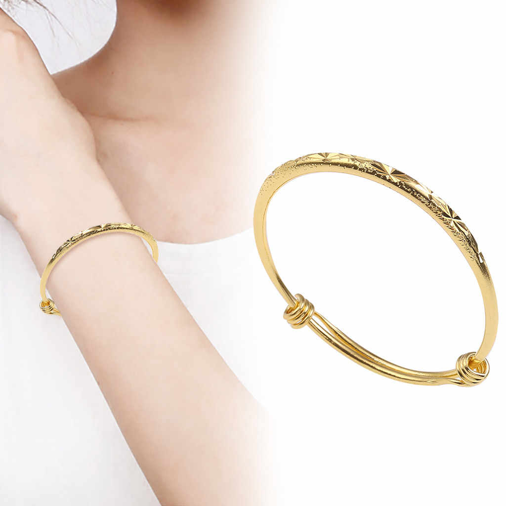 Tekstura bling prosta luksusowa dziewczyna zdrowie kobiety urok srebrny Tone gwiazda ze stali nierdzewnej wzór bransoletka prezent # ZC