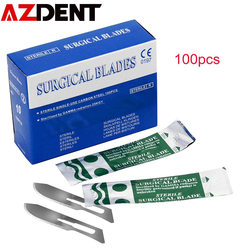 100pcs/box Scalpel Blades For Dental Medical Stainless Steel Surgical Blade Heathy Beauty Tool