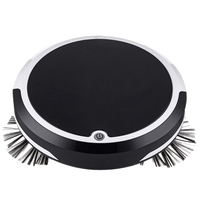 4 in 1 Rechargeable Strong Suction Intelligent Cleaning Robot Vacuum Cleaner  Black  Us Plug