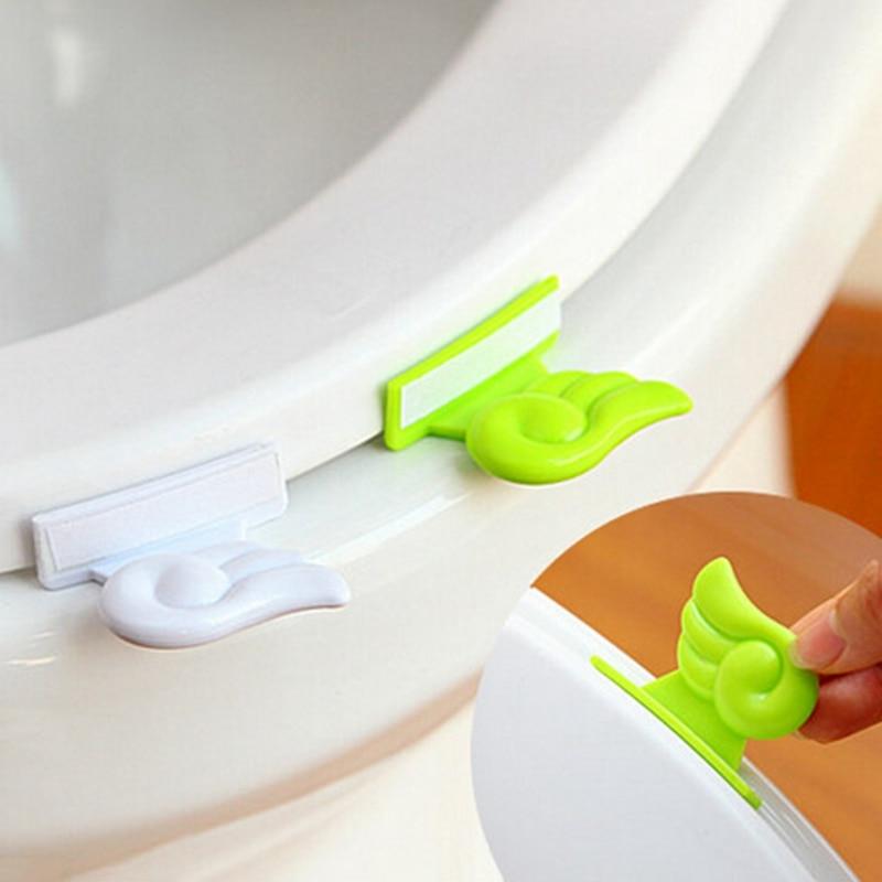 1 шт. ванная сиденье для унитаза крышка подъемного устройства Ванная комната раскладушка ручка для крышки ручной CoverToilet сиденье подъемники ...
