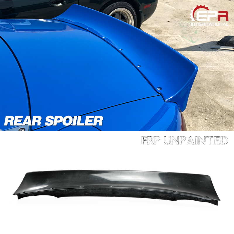 <font><b>MX5</b></font> NA 1989-1997 Miata Roadster RB Style FRP Fiber Glass Wide-body <font><b>Rear</b></font> <font><b>Spoiler</b></font> For <font><b>Mazda</b></font> Fiberglass Trunk Wing Body Body Kit image