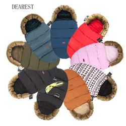 DEAREST Baby Stroller Sleeping Bag Infant Winter stroller footmuff thick Warm Wheelchair Envelope For Newborns Warm Sleepsacks