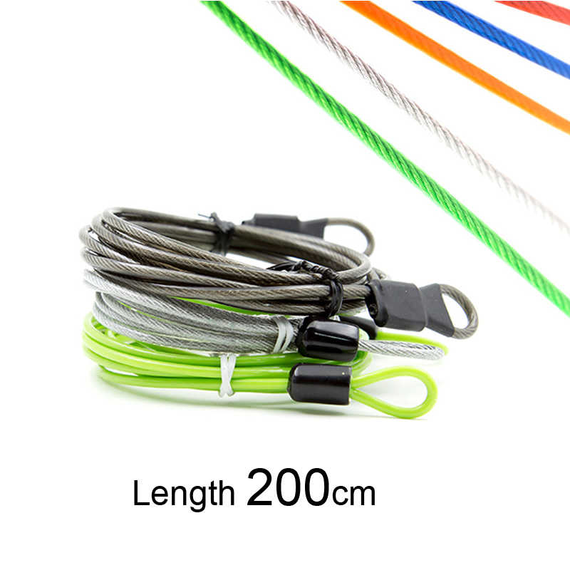 1.2m cable bicycle lock rope anti-theft Motorbike Disc Lock Security Reminder BR