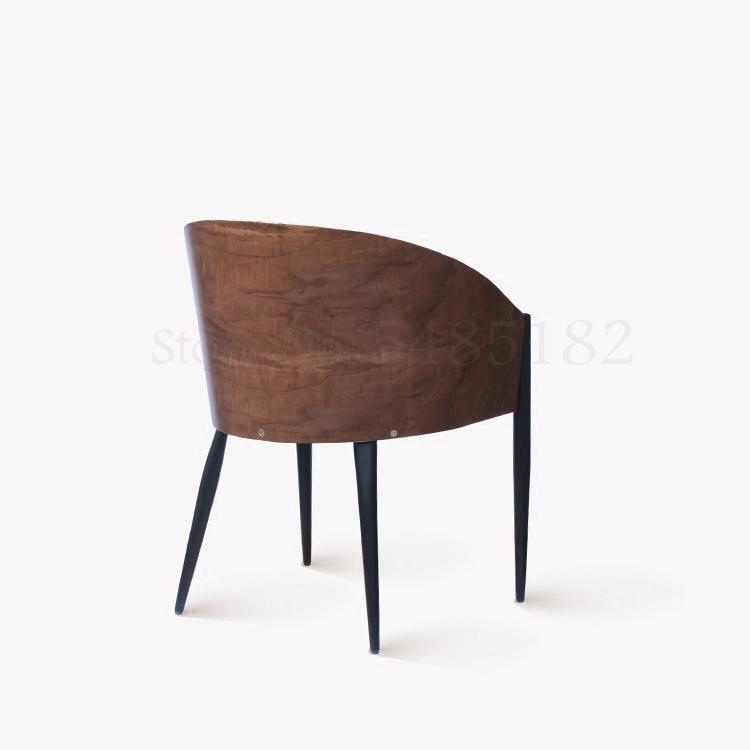 Fashion Iron Foot Chair Iron Creative Furniture Dining Chair Simple Metal Chair Modern Designer Chair Dining Chair (Boom  Clap  1)