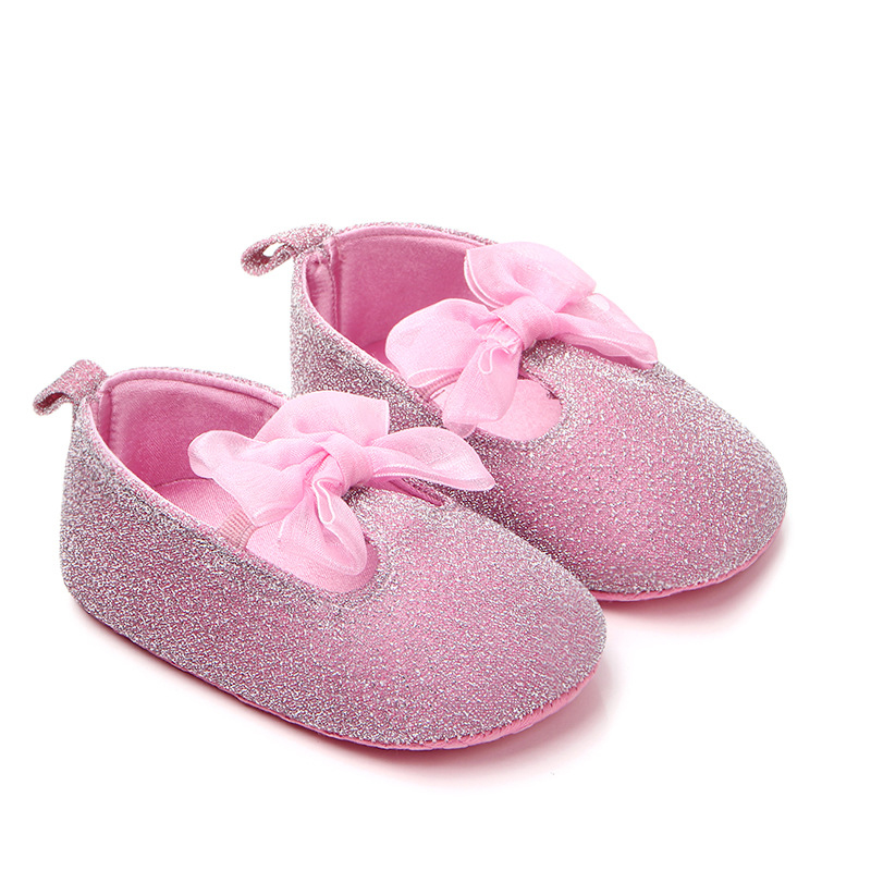 Baby Shoes First-Walkers Non-Slip Toddler Newborn Princess Months 0-18 Bling Bowknot