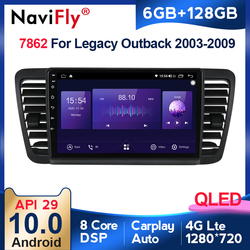 6G +128G QLED 4G LTE Carplay Android 10 Car Radio Multimedia Video Player Navigation GPS For Subaru Outback 3 Legacy 4 2004-2009
