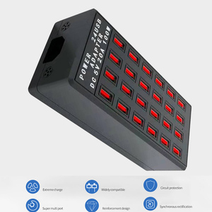 Image 5 - Multi 24 Port USB Charging Station Hub Mobile Phone Fast Charger Quick Charge Power Adapter for Huawei iPhone US UK EU Plug