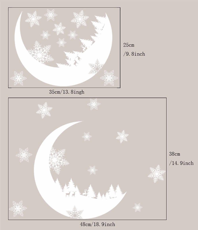 2019 offre spéciale noël fenêtre autocollants noël neige noël neige décoration chambre Stickers muraux papier peint livraison directe 912Z