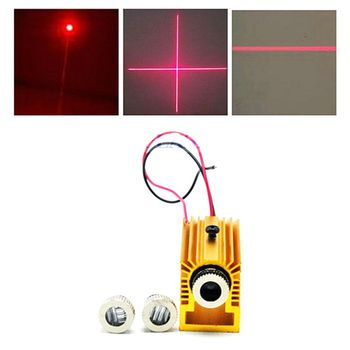 Focusable 5mW 650nm Red Laser Diode Dot Line Cross LED Module 12x30mm w/Heatsink focusable 650nm 5mw 3 5v red laser module diode with driver and plastic lens cross shape