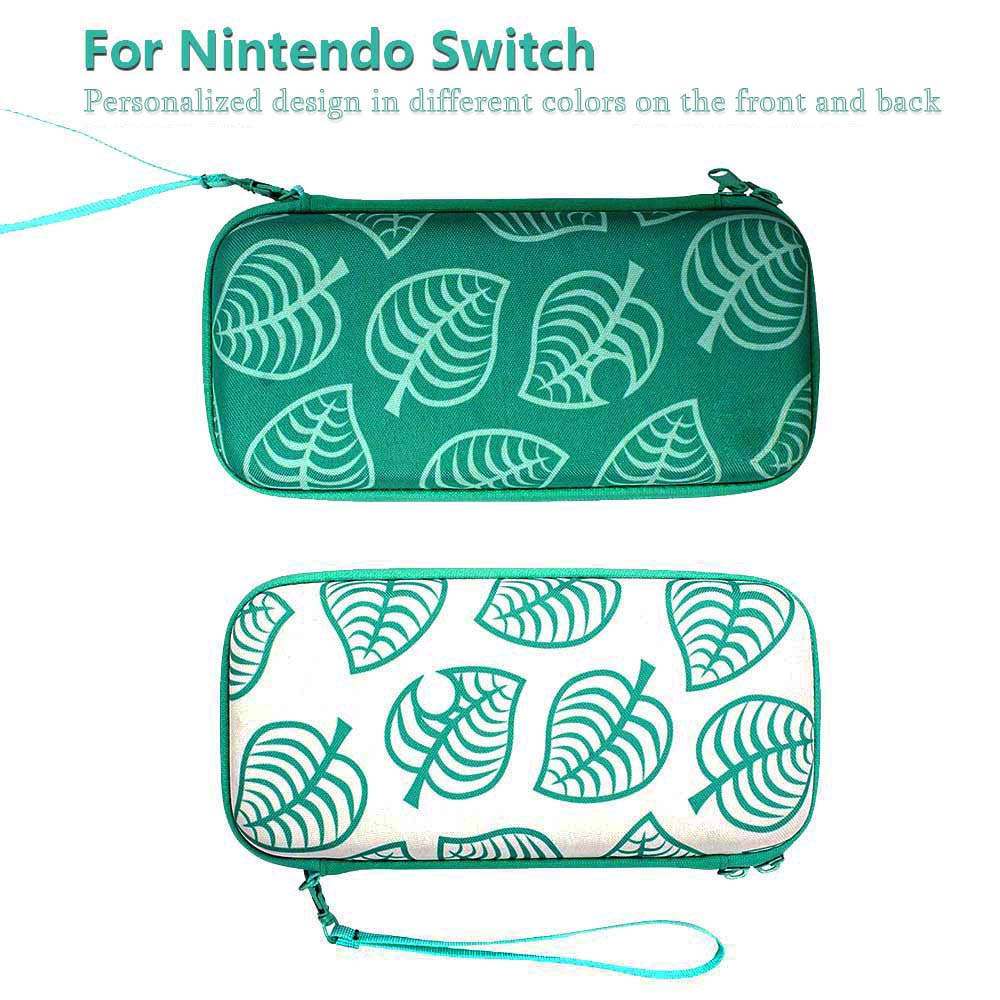 Animal Crossing Game Accessory Set For Nintendo Switch Travel Carrying Bag Protector Case Thumb Stick Grip Caps Charging Cable 2