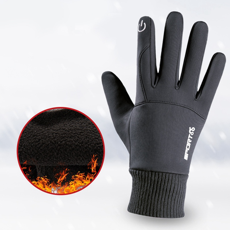 2020 Autumn/winter Unisex Waterproof Gloves for Outdoor Cycling, Warm and Non-slip Gloves for Mobile Phone Touch Screen