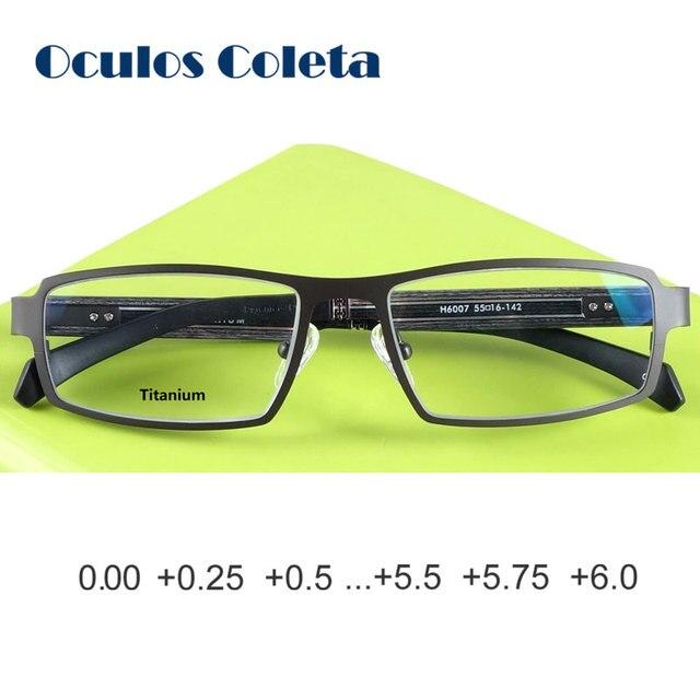 Pure titanium reading glasses for men oversized 25 50 100 125 150 175 200 225 250 275 300 325 350 375 400
