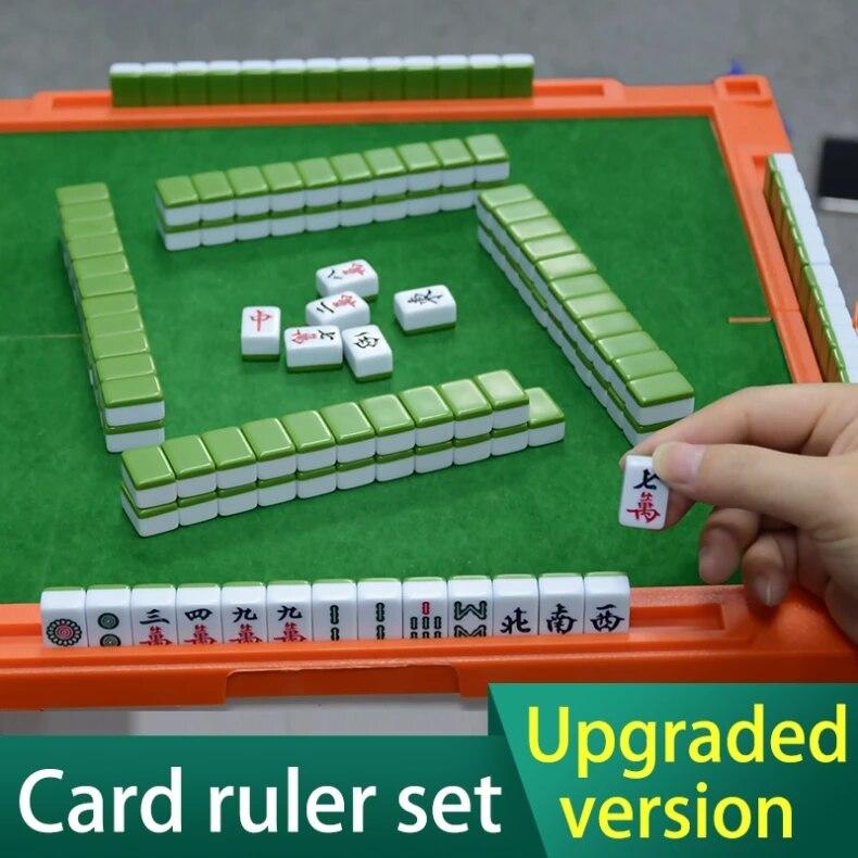 Hot Mini mahjong puces voyage/intérieur Mahjong ensemble Mah-jong jeux maison jeux mahjong chinois drôle famille Table jeu de société