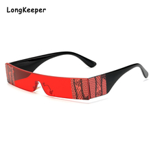 New Rectangle Snake Printed Sunglasses Women 2020 Fashion Luxury Brand Red Green