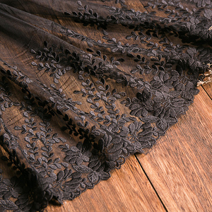 Image 5 - 1 ヤードホワイトレース生地 32 センチメートル幅綿刺繍ミシン用品リボンレース diy 衣服カーテンアクセサリー