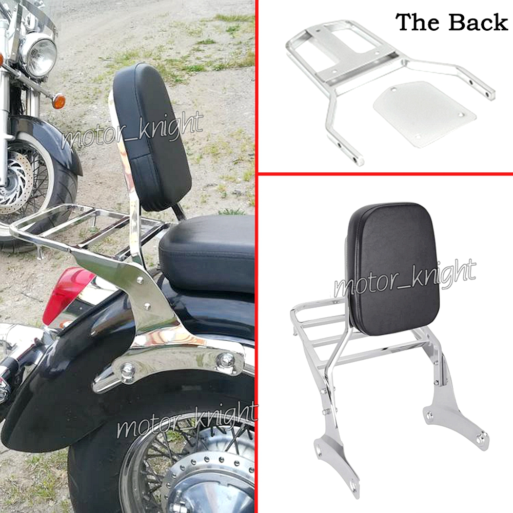 Motorcycle Backrest Sissy Bar Luggage Rack For HONDA SHADOW 400 SHADOW750/C SHADOW750C2 VT400 VT750/C 1997-2003 98 99 00 01 02