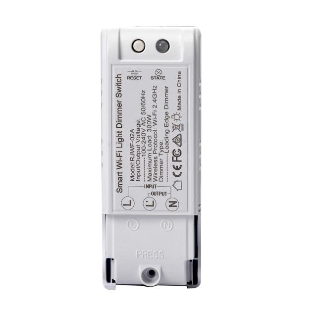 3 uds Control de voz Wifi DIY Dimmer Switch módulo de Control remoto inalámbrico Smart Home Automation luces interruptores funciona con Alexa