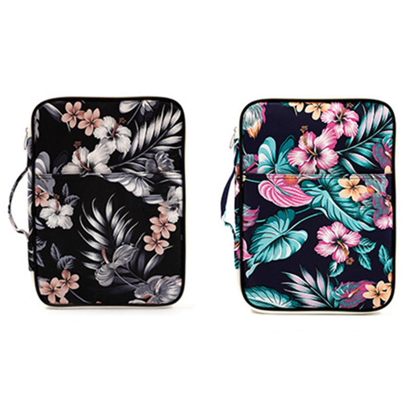 Flower Folder Multifunction A4 Bag Storage Bag Portable Tablet File Product Waterproof Nylon Storage Bag File Notebook Pen Compu