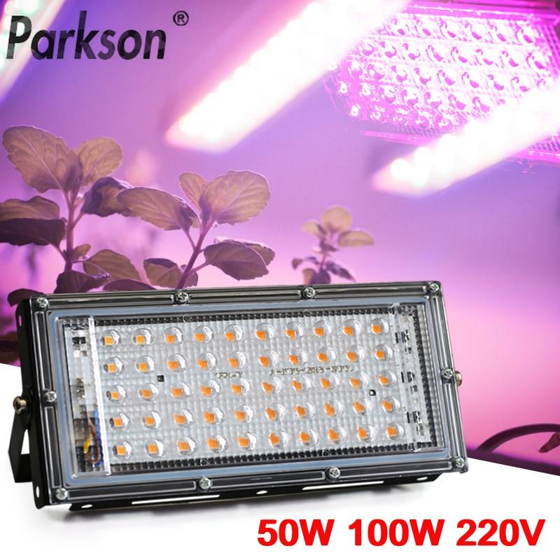 Светодиодный прожектор полного спектра 50 Вт 100 Вт 220 В, светодиодный светильник для роста растений, светодиодный прожектор, уличный светодио...