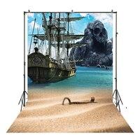 HUAYI פיראטים ספינה סנדי חוף רקע ויניל צילום תפאורות תמונה אבזרי חוף נוף רקע XT 5489-ברקע מתוך מוצרי אלקטרוניקה לצרכנים באתר