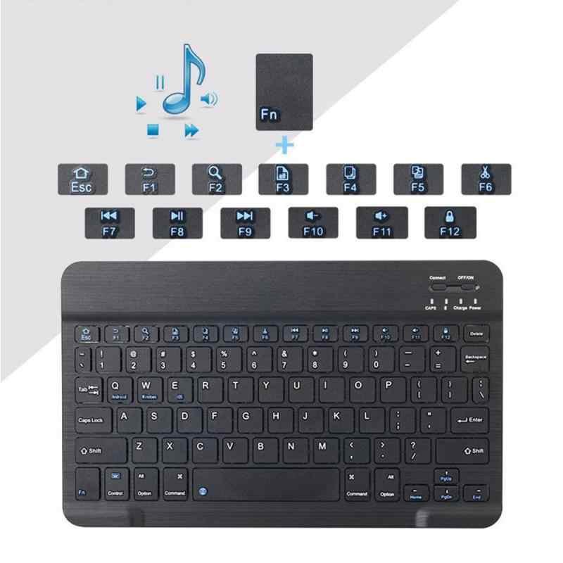 新 7/10 インチ超スリムワイヤレスキーボード bluetooth 3.0 の ipad/iphone/macbook の/pc コンピュータ/android タブレット
