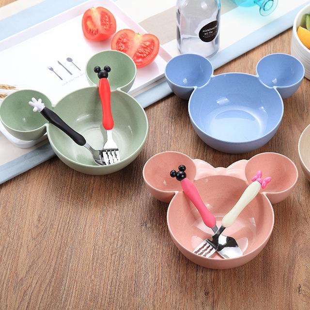 3pcs/set Cute Cartoon Bowl Set