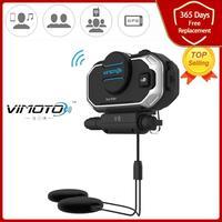 Easy Rider Vimoto V8 Interphone intercomunicador para casco de motocicleta auriculares estéreo para el teléfono celular compatible con Bluetooth GPS 2 Radios