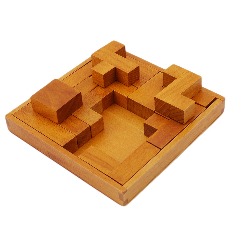 Geometric Shaped Puzzle Game Wooden Puzzles for Children Traditional Luban lock IQ Educational Toys Brain Teaser Game for Adults