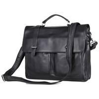 Japanese Korean Distinguished of Genuine Leather Men's Briefcase Handbag Crossbody Bag Computer Bag 7100