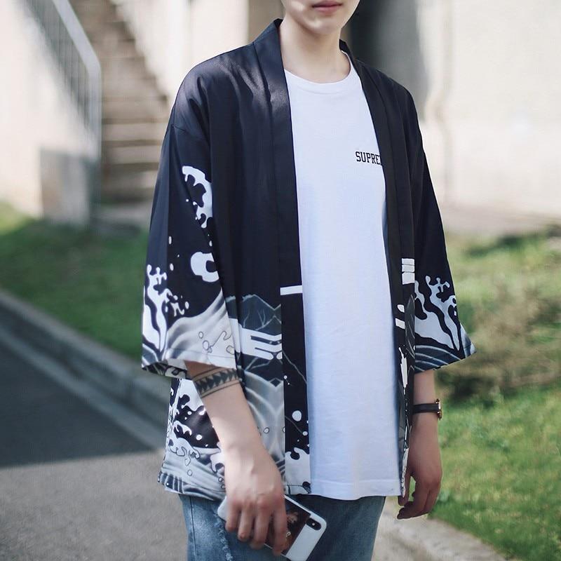 Китайский дракон, Традиционная японская одежда, свободное повседневное солнцезащитное кимоно, кардиганы, кимоно в японском стиле