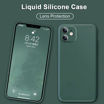 For iPhone 11 Pro Max 8 7 Plus XS XR Full Liquid Silicone Camera Protective Case Cover image
