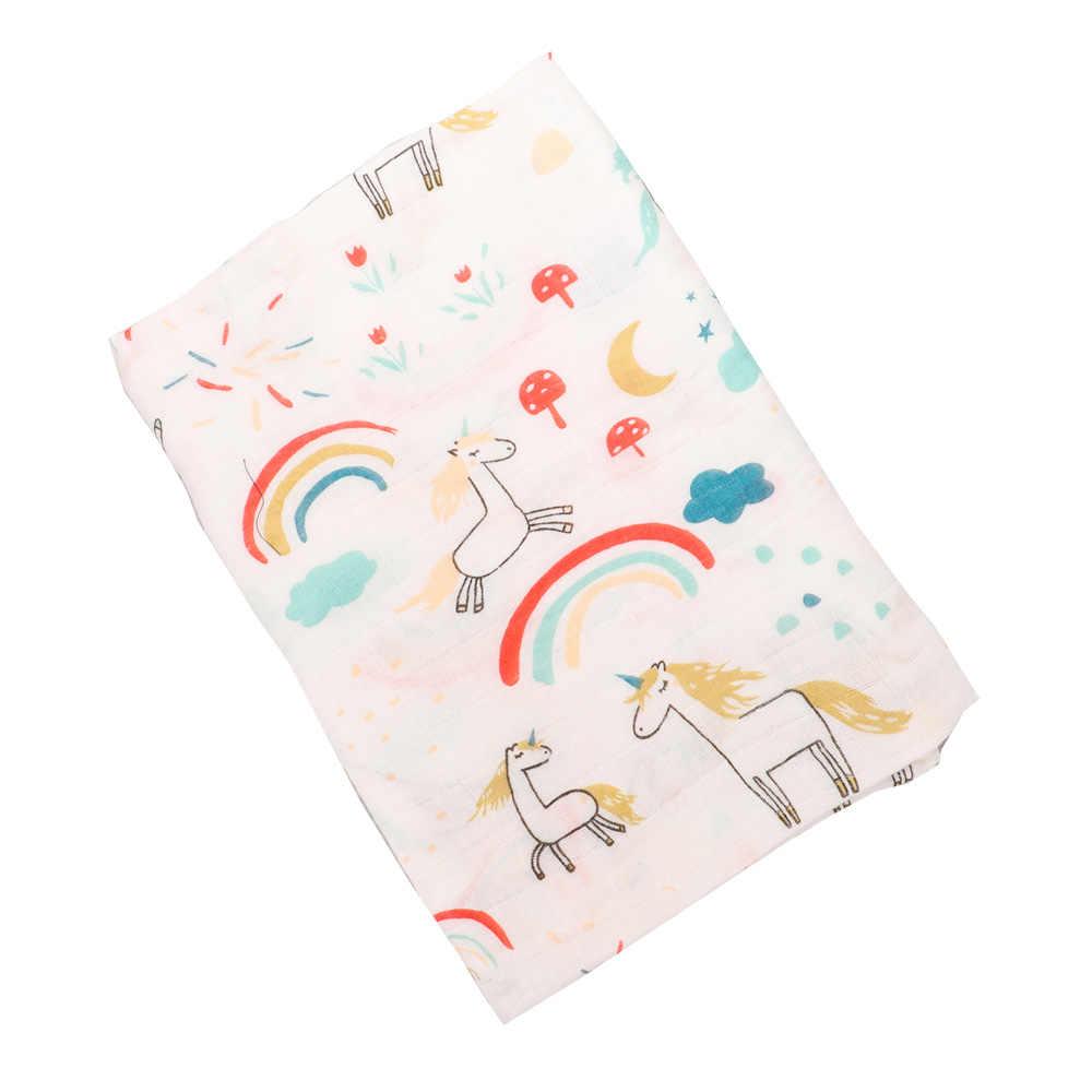 Пеленки для новорожденных Обёрточная бумага единорог; Фламинго узор чехол для коляски, циновка игры для младенца детское одеяло хлопковая муслиновая пеленка