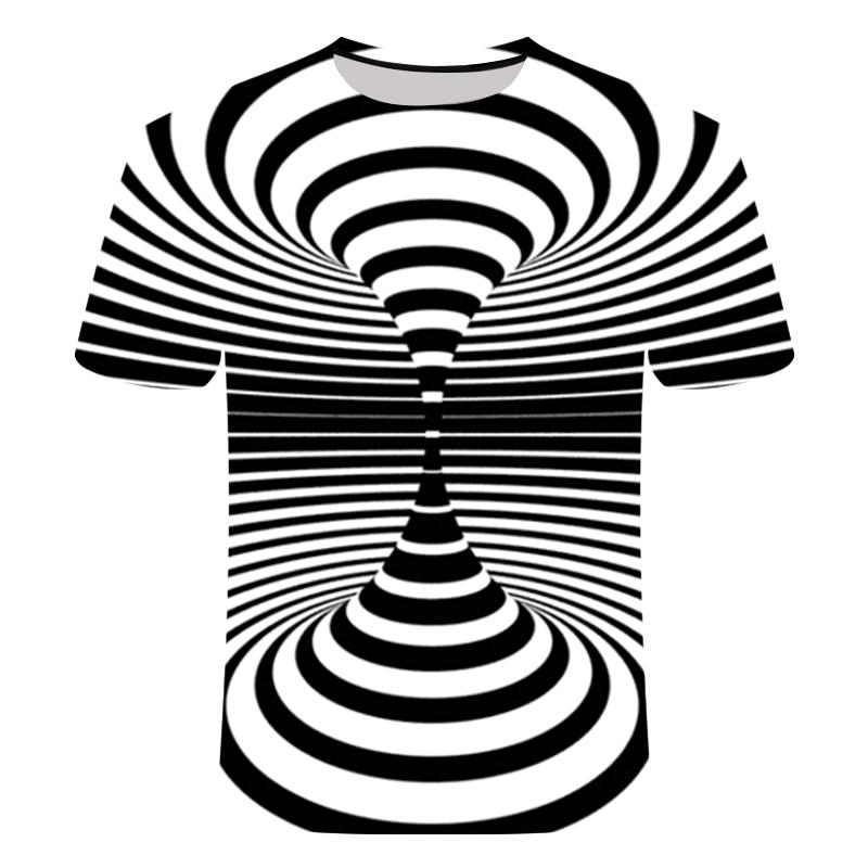 2019 Fashion New Pattern Psychedelic 3d T Shirt Short Sleeveprinting O-neck Tee Shirts Personality Men Women Unisex Summer Tops