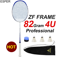 ESPER ZF Badminton Rackets Carbon Fiber 4U Light High Quality Graphite Racquets String Shuttlecocks Professional Offensive