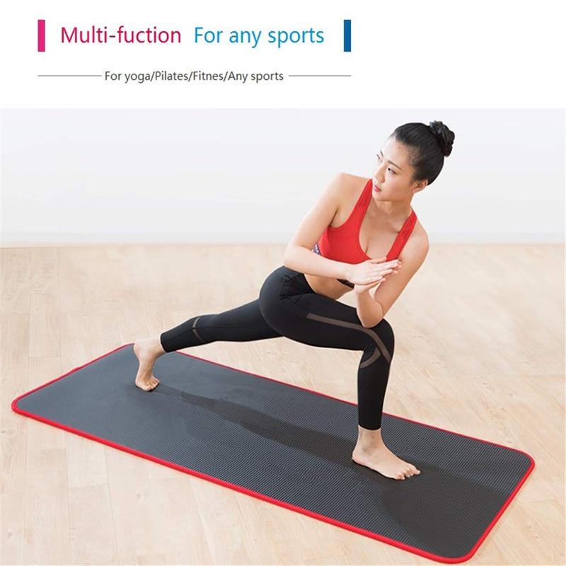 Exercise Sports Gym NBR Non-Slip Mats Fitness Sit-ups Body Shape Yoga Mat 10mm Thick Pilates Anti-Tearing Beginner Pads 25