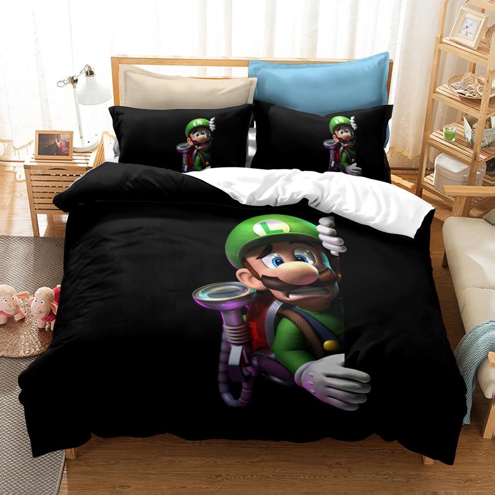 3D Super Mario Bros. Duvet Cover Set Funny Girls Boys Kids Children Bedding Set Au Eu Us Twin Full Queen King Bed Linen