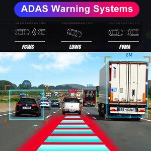 "Image 4 - Bluavido español 12 ""espejo retrovisor para coche Cámara 4G Android 8,1 Cámara 2G RAM 32G ROM GPS navegación ADAS vídeo para automóvil grabadora WiFi DVR"