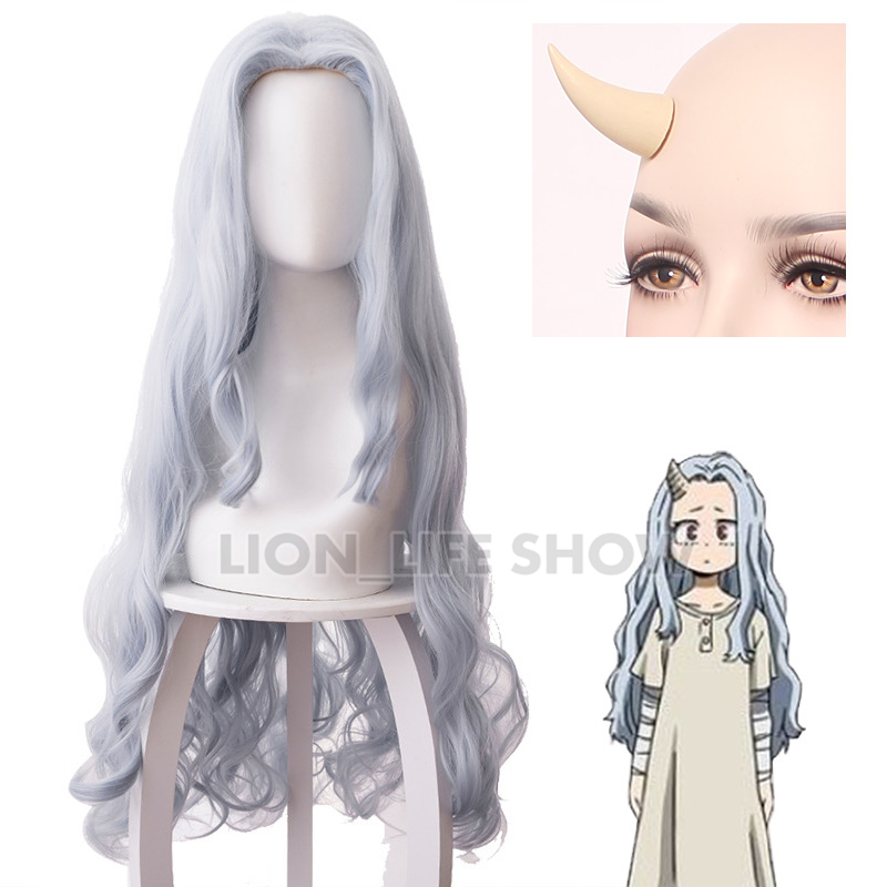 Boku No My Hero Academia Eri Chisaki Woman Gray Blue Wig Cosplay Heat Resistant Synthetic Wigs+free Wig Cap