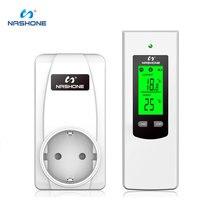 Nashone Thermostatอุณหภูมิไร้สายThermostat 220VจอแสดงผลLCD Temperature Controllerซ็อกเก็ตThermostat