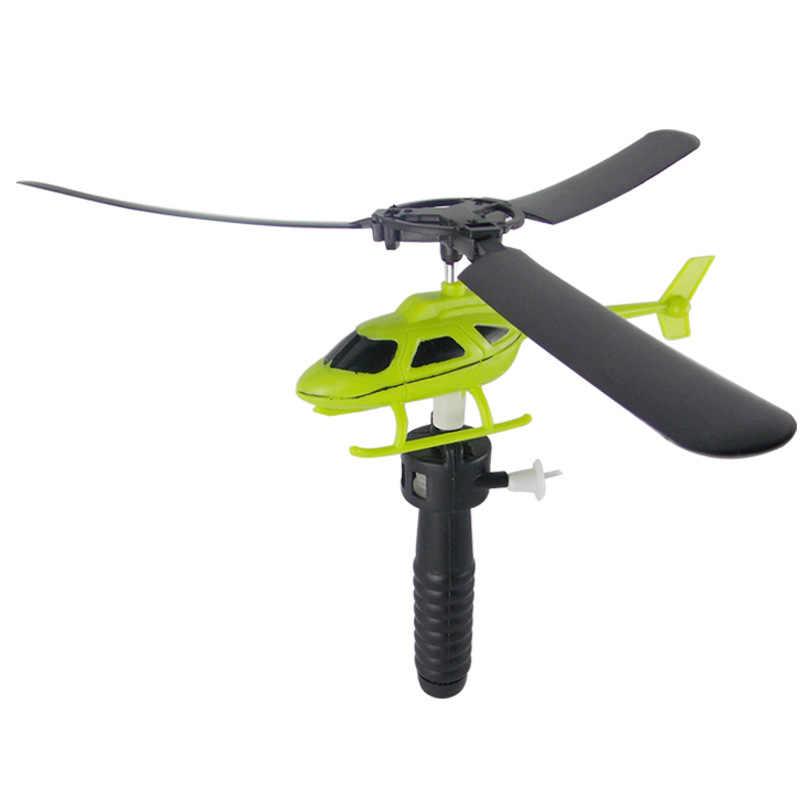 طائرة هليكوبتر صغيرة RC تطير الرباط لعب للأطفال هدايا عيد الميلاد ألعاب في الهواء الطلق طائرات هليكوبتر ألعاب تعليمية بنين بنات لون عشوائي