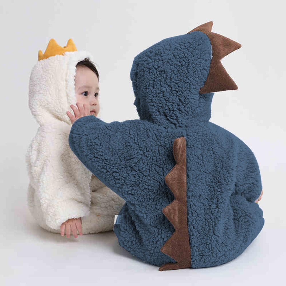2021 New Cute BABY Newborn Baby Boy Girl Clothes Long Sleeve Hoddies Bear Zipper Baby Romper Clothes Autumn Winter Wear 0 18M