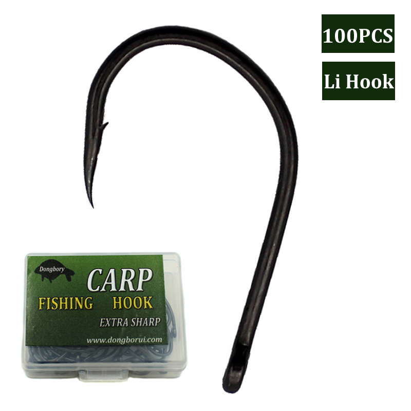 <font><b>100PCS</b></font> <font><b>Fishing</b></font> Chod Rig <font><b>Hooks</b></font> Barbed <font><b>Fishing</b></font> <font><b>Hooks</b></font> Carp Lure Holder Curve Shank Gripper Teflon Coated High Carbon Steel Fishhook image