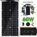 60 Вт солнечная панель гибкий монокристаллический кремний двойной USB выход солнечные элементы солнечная панель для автомобиля яхты 12 В бата...