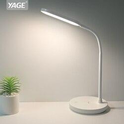 Lampa stołowa Led 1200mAh Rechargeacle lampa biurkowa bezstopniowe przyciemnianie dotykowy lampka na biurko wąż lampa stołowa USB lampka nocna bez lampy błyskowej YAGE