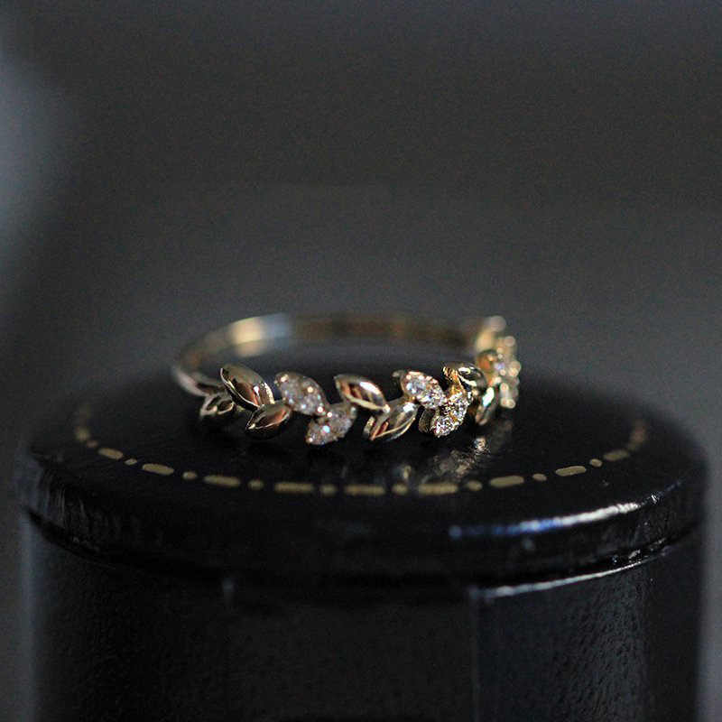 น่ารักหญิงสุภาพสตรี Zircon แหวนแฟชั่นสีเหลืองทองชุดแต่งงานแหวนเครื่องประดับแหวนหมั้นสำหรับสุภาพสตรี