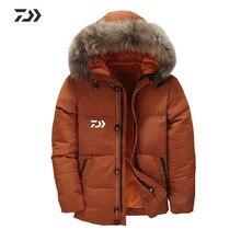 Daiwa Рыболовная куртка с капюшоном, мужская зимняя куртка-пуховик, ветрозащитная Толстая теплая однотонная одежда для рыбалки, Мужская одежда для зимы Shitr