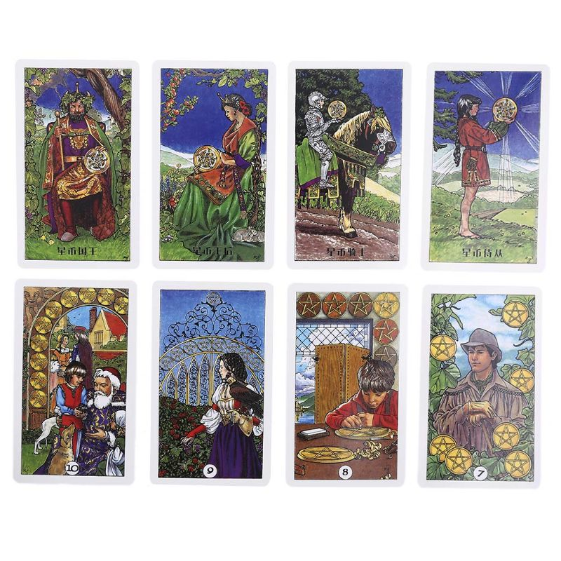 O tarô de madeira robin 78 cartas